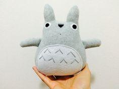 Items similar to Totoro Plush Stuffed animal Toy-Cute handmade My Neighbor Kawaii anime Plushie on Etsy Softies, Plushies, Handmade Stuffed Animals, My Neighbor Totoro, Pet Toys, Kawaii Anime, Dinosaur Stuffed Animal, Japanese, Miyazaki
