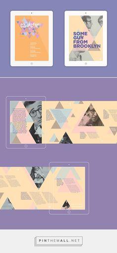 ePublication design - masthead and feature article (student work by frankie young at studio neubau) Bike Magazine, Create Name, Magazine Layout Design, Feature Article, Article Design, Mobile Design, Student Work, Ui Design, Booklet