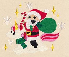 "This free embroidery design from Urban Threads is called ""Merry Magical Ride"".  Enjoy this Christmas embroidery design."
