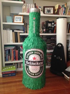 Two days of work... And we have a 4.5ft Heineken piñata!