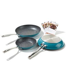 Curtis Stone 3-piece Dura-Pan Nonstick Frypan Set