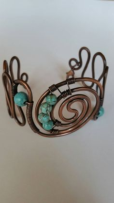 Hey, I found this really awesome Etsy listing at https://www.etsy.com/uk/listing/461209676/turquoise-copper-wire-bracelet-copper