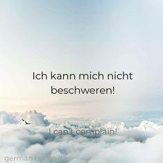 German Grammar, German Words, Learn English Words, German Quotes, English Quotes, Words In Other Languages, German Language Learning, Cute Words, Learn German