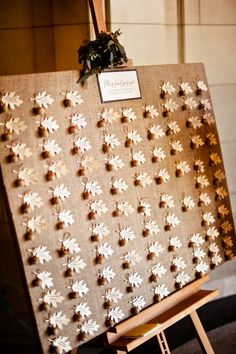 Fall Weding Place Cards 275x413 DC Wedding Reception: Diana + John