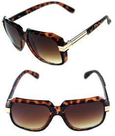 92c4e729338 Men s Hip Hop 80 s Vintage 607 Brown Lens Sunglasses RUN DMC Brown Gold  Retro  Unbranded  HIPHOP