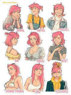 Female Character Design, Character Design References, Character Drawing, Character Design Inspiration, Character Illustration, Character Concept Art, Character Design Tutorial, Character Reference, Cute Art Styles