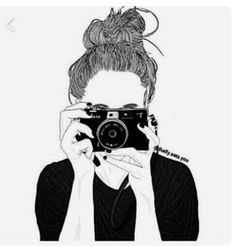 black and white, girl, outlines, pretty Tumblr Girl Drawing, Tumblr Sketches, Tumblr Drawings, Tumblr Art, Girl Drawings, Sketches Of Girls, Cute Drawings Of Girls, Tumblr Hipster, Tumblr Outline