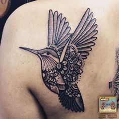 Hummingbird #tattoo #tattoos #hummingbird #blackwork #mandala #dotwork #blxck #