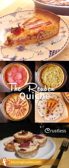 If you like reuben sandwiches, you'll love our Ultra Low Carb Reuben Quiche with coconut flour crust Quiche Recipes, Meat Recipes, Ultra Low Carb Recipes, Easy Quiche, Cooking On A Budget, Base Foods, Eat Breakfast, One Pot Meals, Coconut Flour