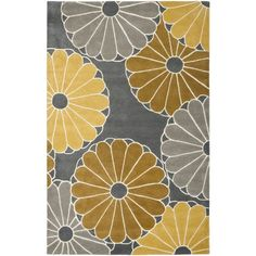 Safavieh Hand-Tufted Soho Grey/ Yellow Wool/ Viscose Rug (5' x 8') - Overstock™ Shopping - Great Deals on Safavieh 5x8 - 6x9 Rugs