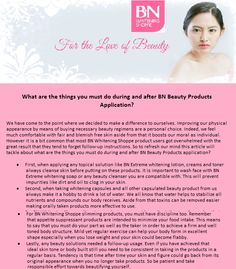 Over the years, BN Whitening Shoppe received not only overwhelming inquiries and orders but as well as unbelievable positive feedback from Product Users here and from other Countries. In return, here's an easy to read post that you might love... What are the simple things you must do during and after BN product applications?.. Enjoy Reading! #BeautyBlog #WhiteningProducts Positive Feedback, Simple Things, You Must, Whitening, Over The Years, Countries, Love, Reading, Easy