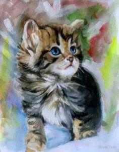 portrait of a kitten by Hidemi