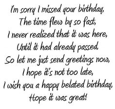 Time Flew by So Fast Belated Birthday Wishes