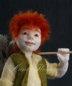 Nadel Gefilzte Puppe Hop o ' meine Daumen. Kunst-Puppe von AnnPot