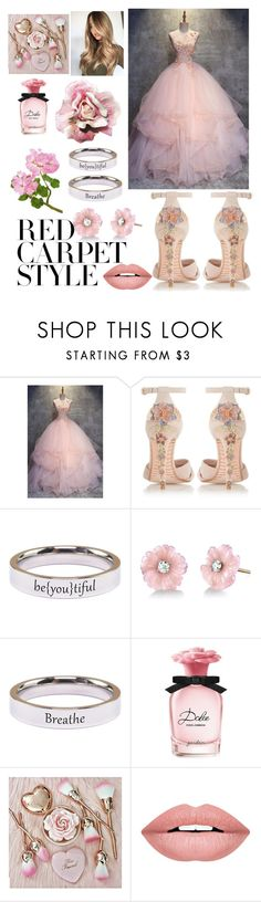 """""""Red Carpet Style ~ Floral Pink"""" by drumeaclementina ❤ liked on Polyvore featuring Dune, Pink Box, Irene Neuwirth, Dolce&Gabbana, Forever 21, floral, Pink, redcarpetstyle and OscarsThrowback"""