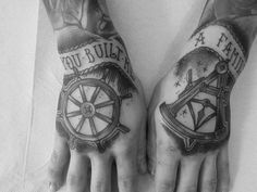 Sailor tattoos on the hands  #tattoo #tattoos