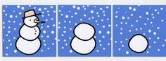 sneeuwman logische volgorde