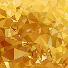 Golden Abstract Polygonal Triangular Background Graphics