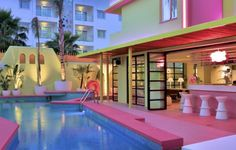 slide Pool Area Tropicana Ibiza Coast Suites