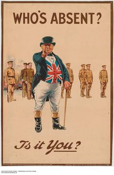 Series of WW1 propaganda posters