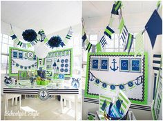 Green and Blue Nautical First Grade Classroom, Classroom Setup, Classroom Design, Preschool Classroom, Future Classroom, Sailing Classroom Theme, Kindergarten, Classroom Decor Themes, Classroom Setting