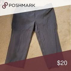 Alfani gray cropped slacks Stretchy, super comfortable. Never worn!!! Alfani Pants Ankle & Cropped
