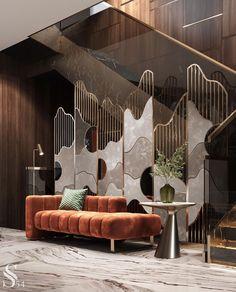Modern Interior Design, Luxury Interior, Interior Architecture, Interior And Exterior, Home Room Design, House Design, Hall Design, Hallway Decorating, Living Room Decor