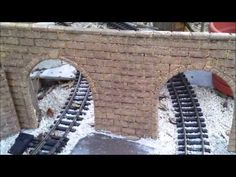 ▶ How to make G-scale stone block tunnel portals and walls from foam insulation - YouTube