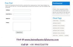 Performance for Intraday nifty futures tips, intraday stock futures tips, intraday equity tips, intraday options tips can be viewed. Also we have blog which act as an evidence for our calls. Check the chart for our genuine performance For More Details Visit @ http://intradaystockfutures.com/ Call @ +91 9941726770