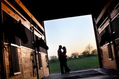 Engagement pictures with horses in a barn. Barn Engagement Photos, Country Engagement, Engagement Couple, Engagement Shoots, Engagement Ideas, Equine Photography, Couple Photography, Engagement Photography, Photography Poses