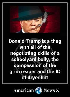 Terrible description is a schoolyard bully, the grim reaper & dryer lint! Political Views, The Grim, Republican Party, Political Cartoons, Bullying, Donald Trump, Real Life, Humor, American