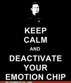Best way to keep calm according to Data.