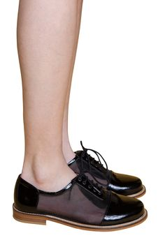 Patent and Mesh Oxfords.