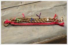 Chain and Rhinestone Bracelet DIY : DIY Fashion by Trinkets in Bloom