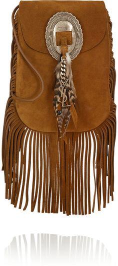 Saint Laurent Anita fringed suede shoulder bag on shopstyle.com.au