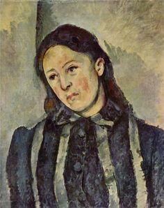 Paul Cézanne ~ Madame Cézanne with Unbound Hair, c.1887