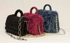 Purse Patterns Free, Crochet Purse Patterns, Crochet Clutch, Crochet Handbags, Crochet Purses, Knit Crochet, Diy Handbag, Diy Purse, Loom Knitting Scarf