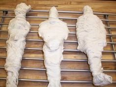 "How to mummify a Barbie | 3 in 1: educational activity for Ancient Egypt, upcycling for Barbies altered beyond repair (A bad haircut & ""makeup"" can be permanent if you're Barbie!), and future Halloween decor!  Excellent!  Consignment shops & garage sales for parents of boys..."