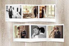 carte de remerciement mariage moderne photos (triptyque) par l'Atelier Rosemood sur www.rosemood.fr