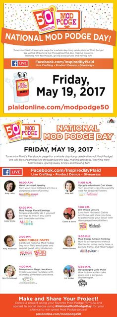 Celebrate Mod Podges 50th Anniversary With Live Videos Giveaways And More Click Here To