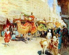 A wedding procession - Cairo 1904  By Walter Frederick Roofe Tyndale (1855–1943) From an artist in Egypt - Watercolo
