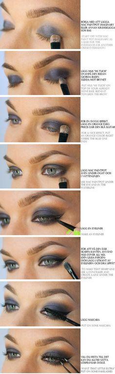 Eye Makeup Tutorial: Pretty in Navy! #tutorial #howto #stepbystep #eyeshadow #eyeliner #eyemakeup #eyes - bellashoot.com #mascara