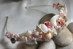 Complete the wedding style with a seashell tiara - perfect for bride or flower girl.