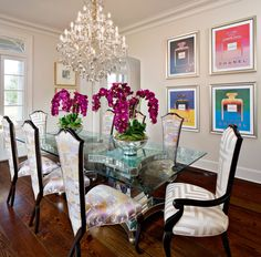 custom upholstered transitional dining chairs