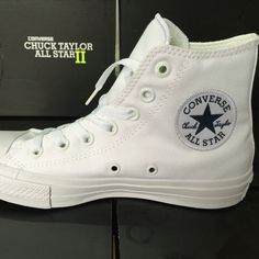 c78e7b0739b Converse Chuck Taylor II new All Star unisex high sneakers canvas shoes  Classic pure color Skateboarding