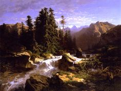 Alexandre Calame - Torrent in the Alps, 1849, romantisme  #Artinism