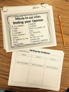 My Opinion Matters!-Opinion Writing Unit Resources