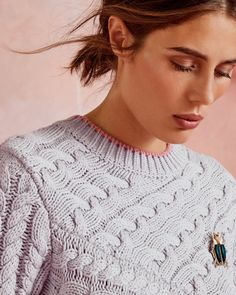 Explore women's knitwear at Ted Baker. From warm, wool jumpers to pretty dresses, you're sure to find something in this cosy collection. Ted Baker, Pulls, Pretty Dresses, Cable Knit, Knitwear, Jumper, Pullover, Wool, Knitting