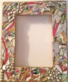 new frame 5x7 mosaic design vintage china