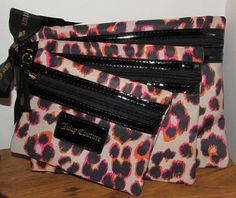Juicy Couture Cosmetic Case Set of 3. Starting at $1 on Tophatter.com!